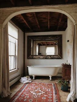 Cute Bohemian Style Decorating Ideas For Bathroom06