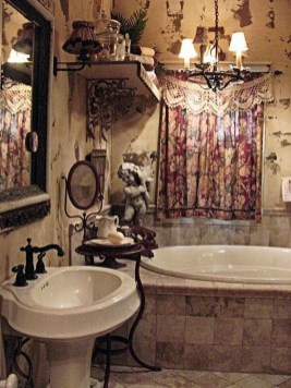 Cute Bohemian Style Decorating Ideas For Bathroom24