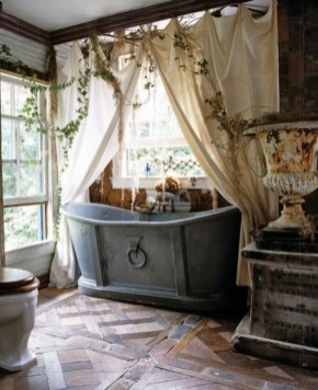Cute Bohemian Style Decorating Ideas For Bathroom27