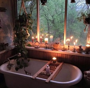 Cute Bohemian Style Decorating Ideas For Bathroom34