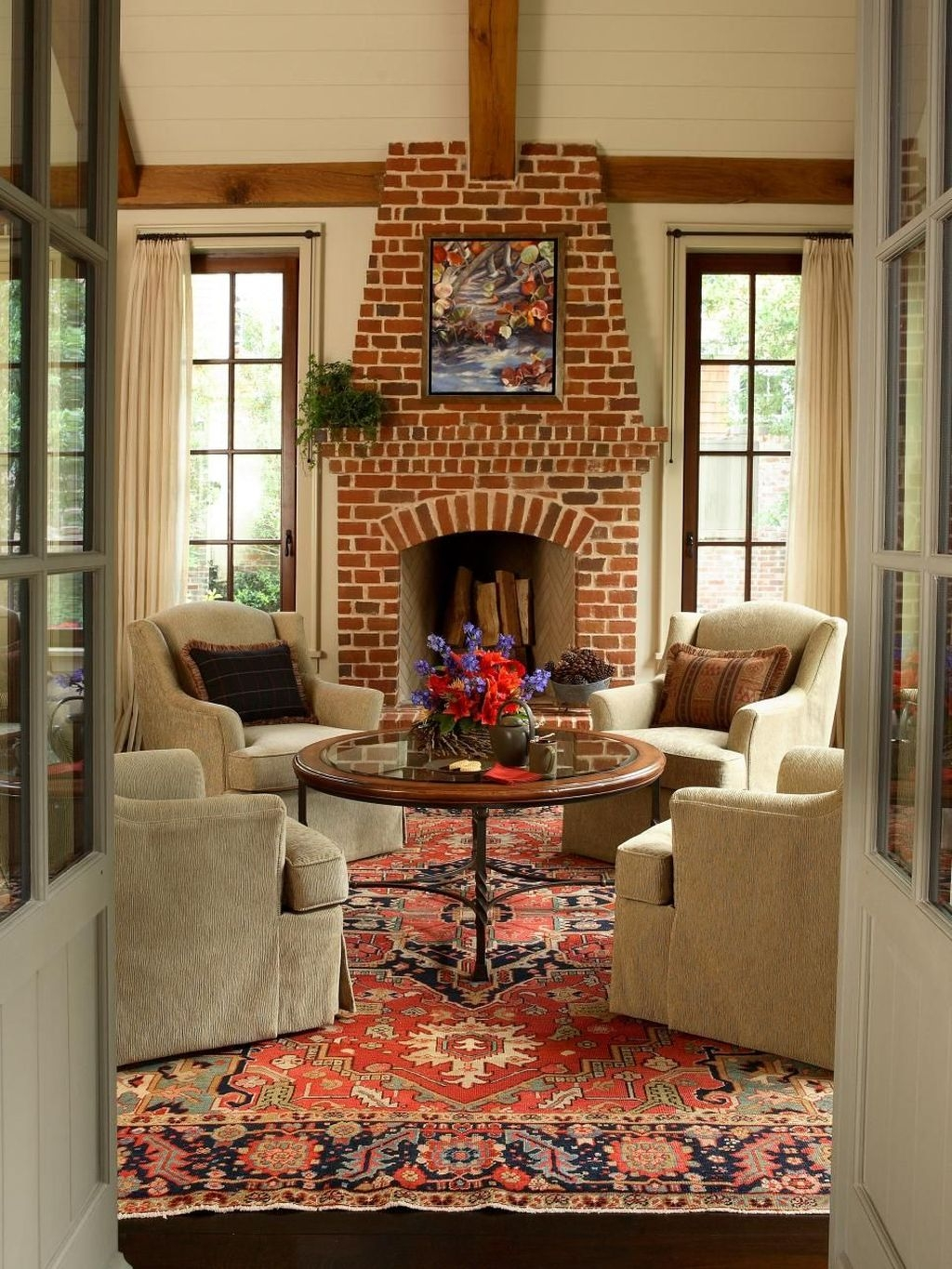 Modern Brick Fireplace Decorations Ideas For Living Room21