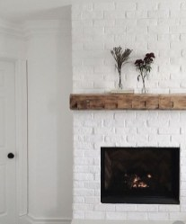 Modern Brick Fireplace Decorations Ideas For Living Room37