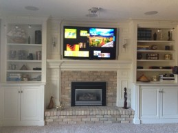 Modern Brick Fireplace Decorations Ideas For Living Room39