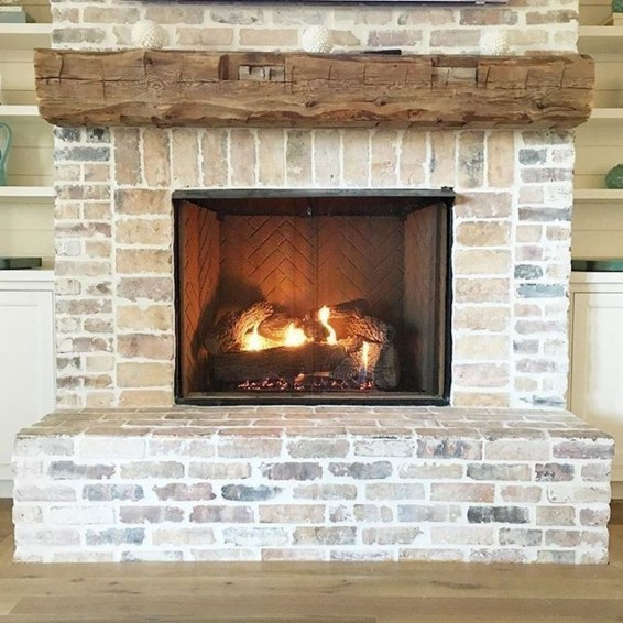 Modern Brick Fireplace Decorations Ideas For Living Room46