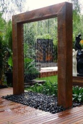 Stylish Outdoor Water Walls Ideas For Backyard23