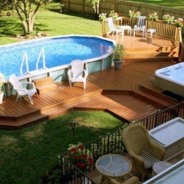Affordable Ground Pool Landscaping Ideas04