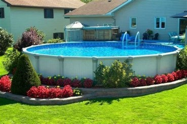 Affordable Ground Pool Landscaping Ideas13