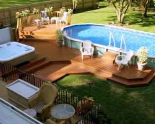 Affordable Ground Pool Landscaping Ideas35