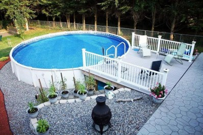 Affordable Ground Pool Landscaping Ideas39