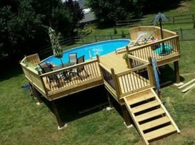 Affordable Ground Pool Landscaping Ideas41