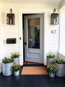 Adorable Porch Planter Ideas That Will Give A Unique Look06