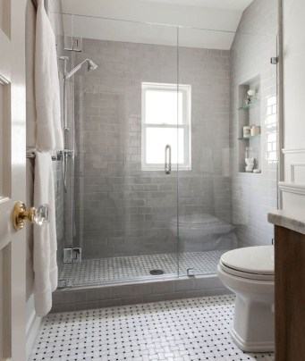 Catchy Subway Tiles Application Ideas For Bathroom38