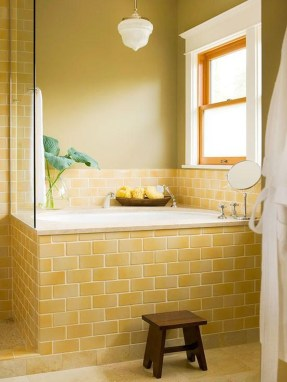 Catchy Subway Tiles Application Ideas For Bathroom43