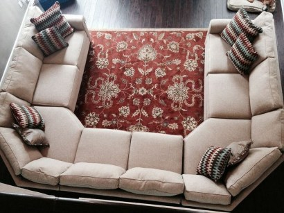 Comfortable Sutton U Shaped Sectional Ideas For Living Room14