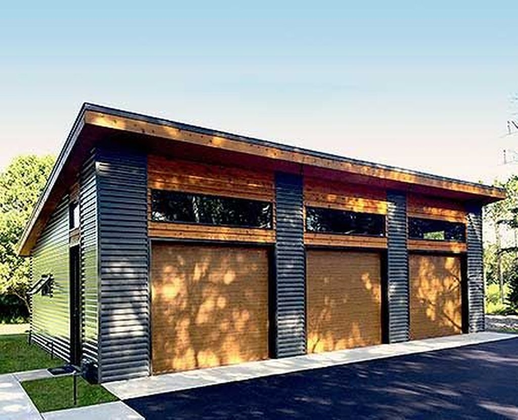 Cute Home Garage Design Ideas For Your Minimalist Home16