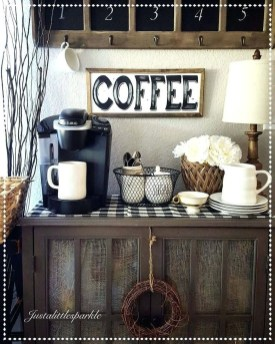 Latest Diy Coffee Station Ideas In Your Kitchen08