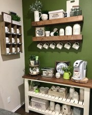 Latest Diy Coffee Station Ideas In Your Kitchen21