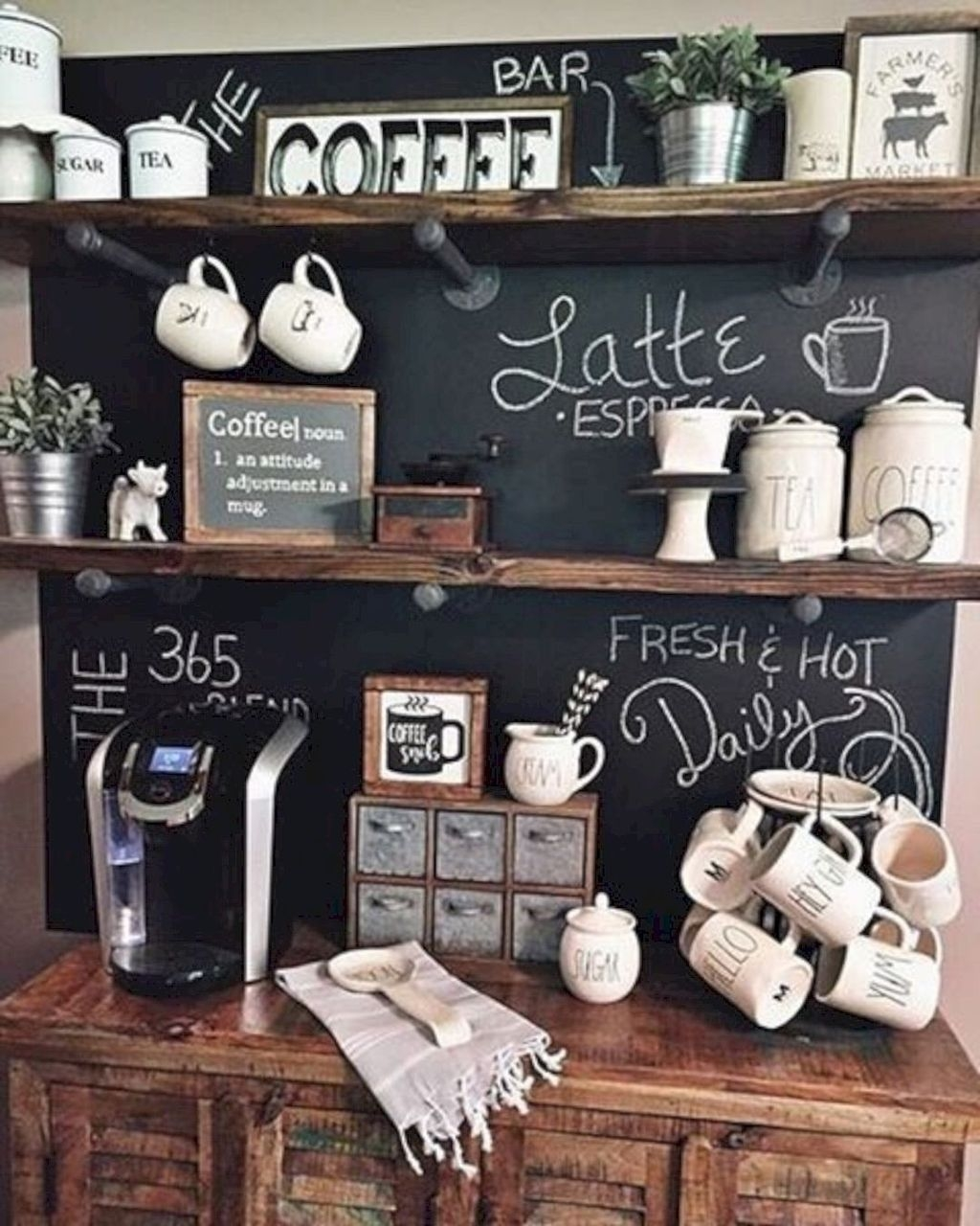 Latest Diy Coffee Station Ideas In Your Kitchen34