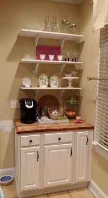 Latest Diy Coffee Station Ideas In Your Kitchen40
