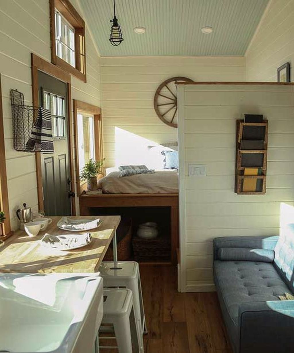 Rustic Tiny House Design Ideas With Two Beds01