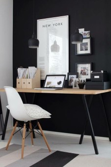 Splendid Monochrome Home Office Decor Ideas To Apply Asap29