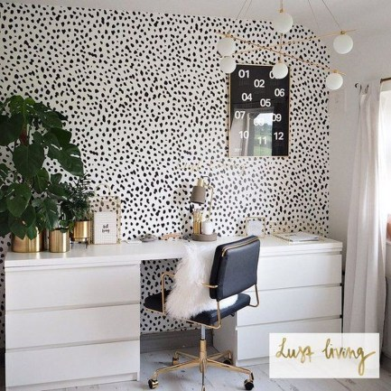 Splendid Monochrome Home Office Decor Ideas To Apply Asap35