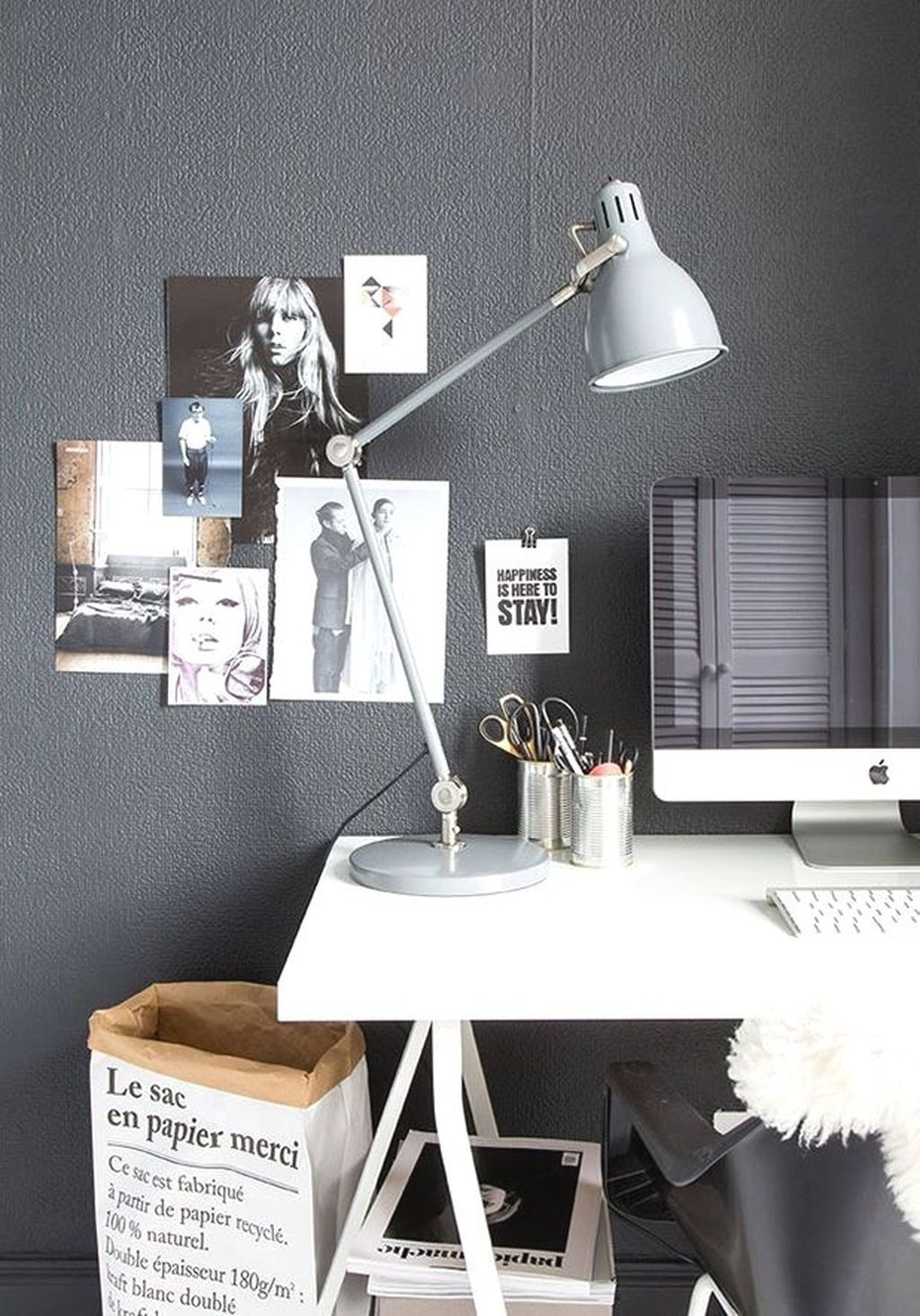 Splendid Monochrome Home Office Decor Ideas To Apply Asap40