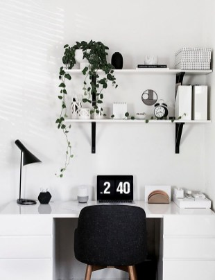 Splendid Monochrome Home Office Decor Ideas To Apply Asap41
