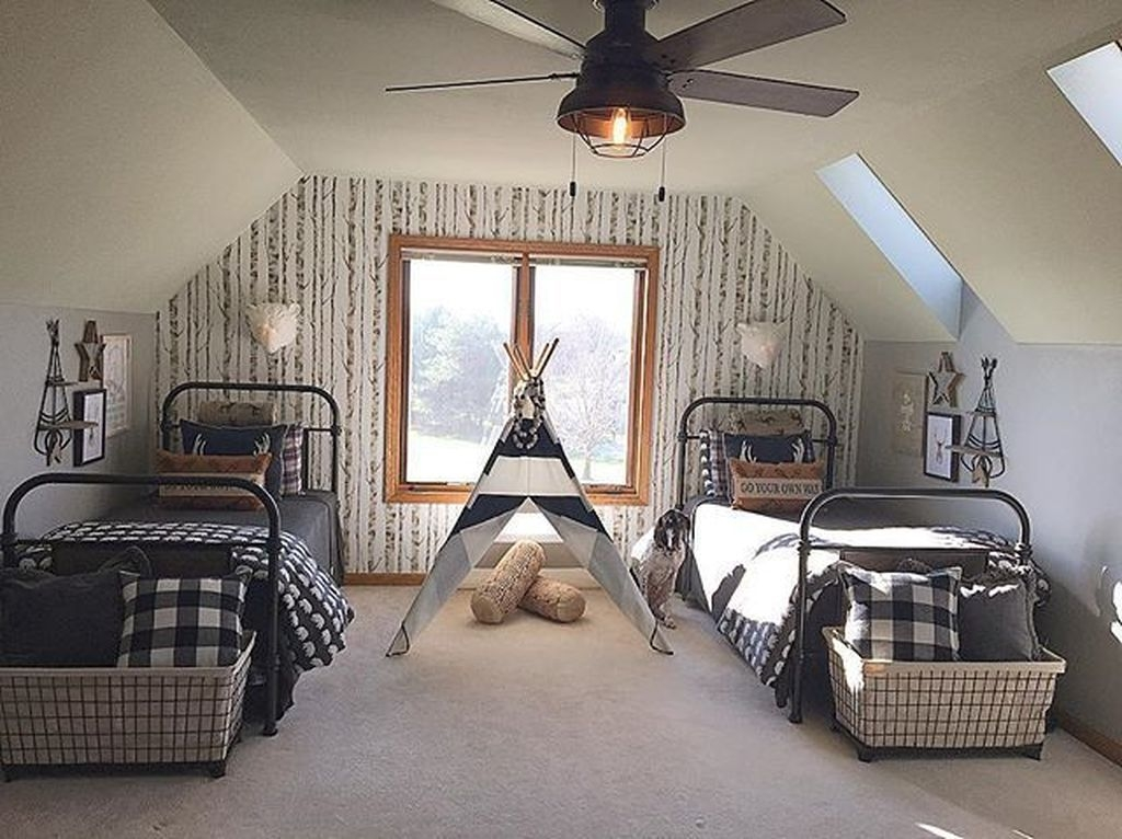 Vintage Shared Rooms Decor Ideas For Teen Boy04