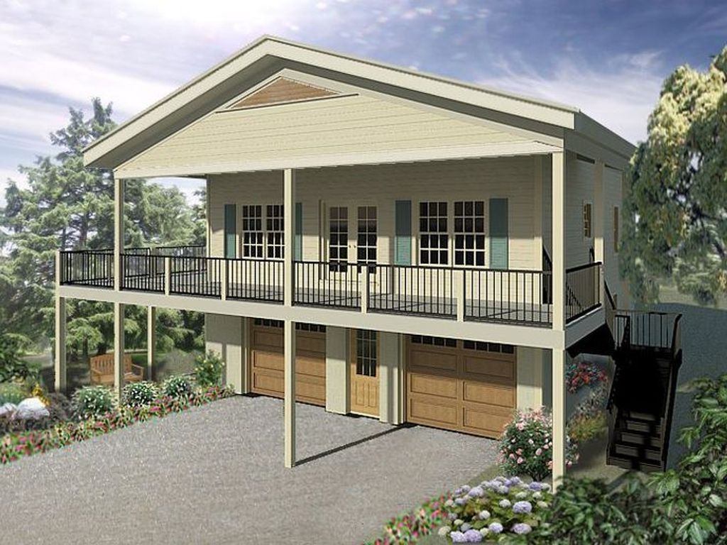 Astonishing House Design Ideas With With Car Garage46