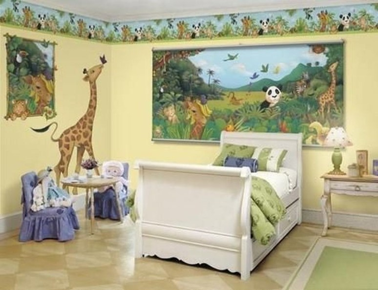 Charming Kids Bedroom Ideas With Jungle Theme To Try09