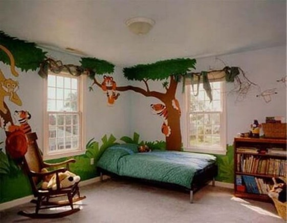 Charming Kids Bedroom Ideas With Jungle Theme To Try10