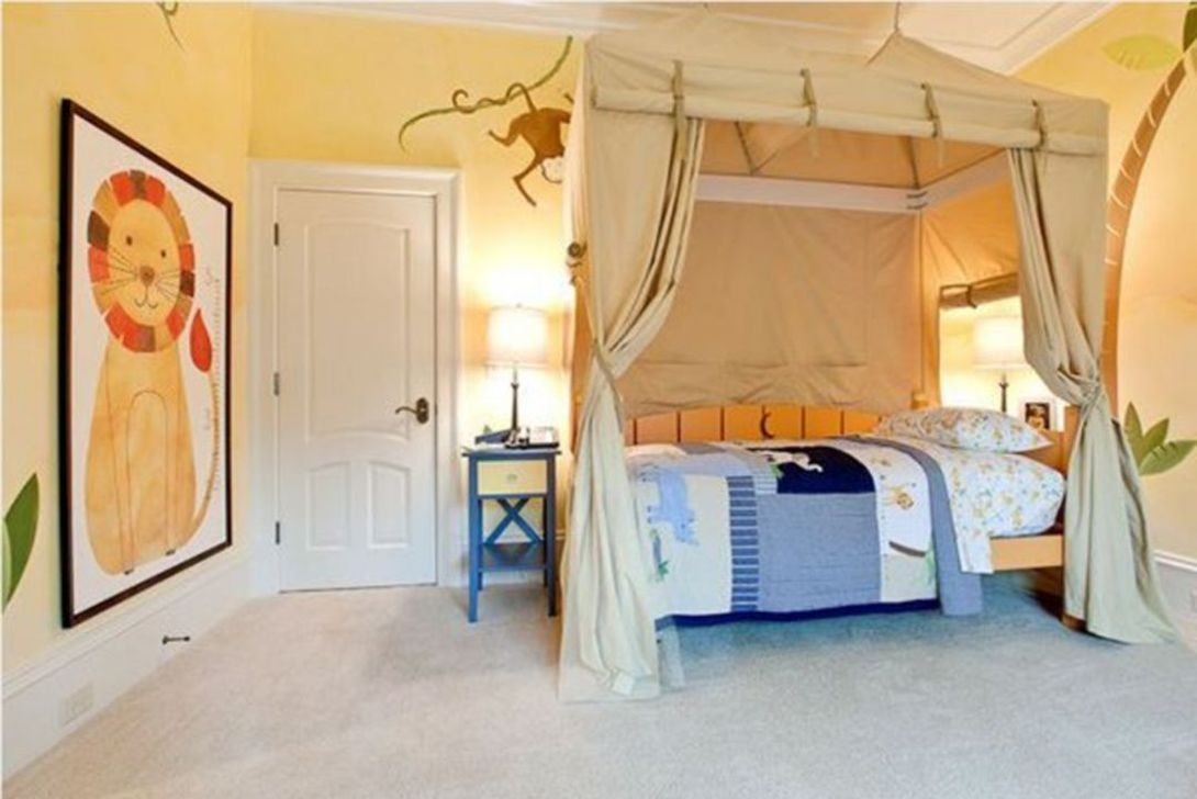 Charming Kids Bedroom Ideas With Jungle Theme To Try12