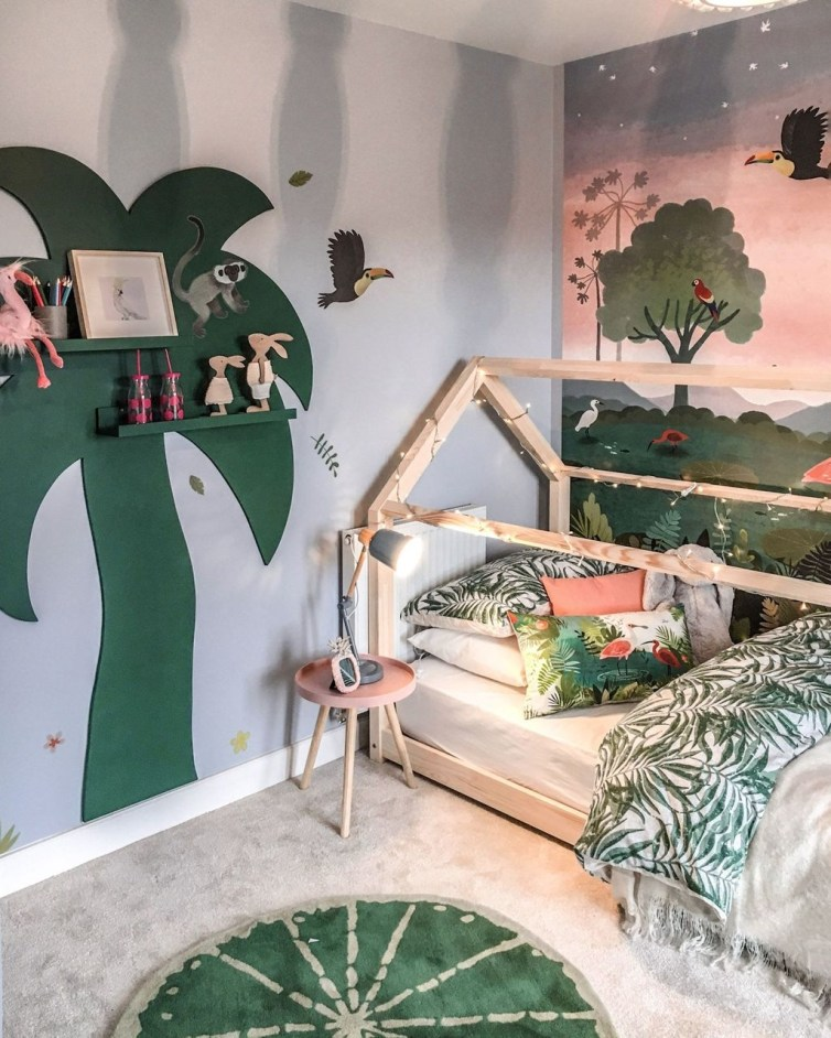 Charming Kids Bedroom Ideas With Jungle Theme To Try29