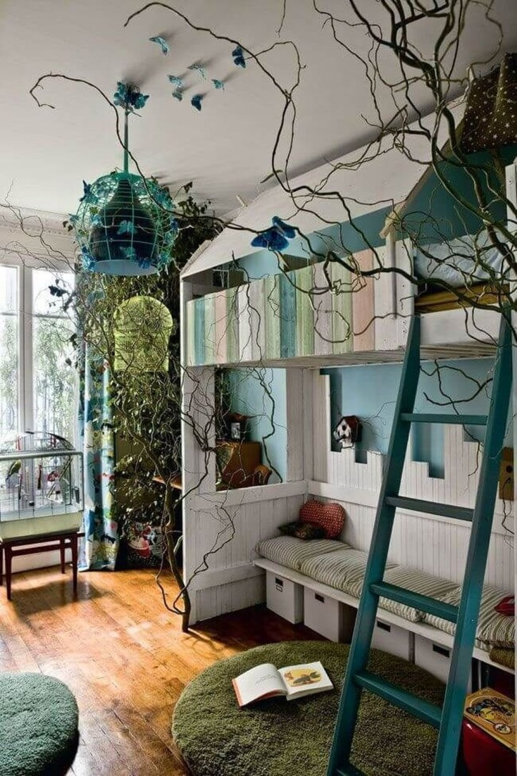 Charming Kids Bedroom Ideas With Jungle Theme To Try30
