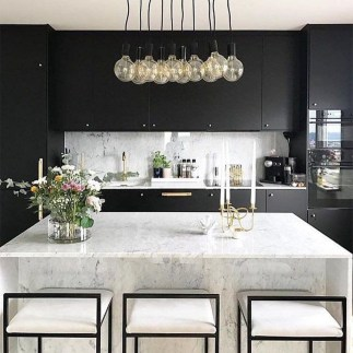 Elegant Black Kitchen Design Ideas You Need To Try26