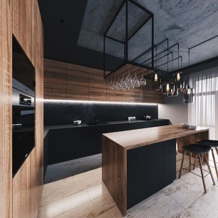 Elegant Black Kitchen Design Ideas You Need To Try36