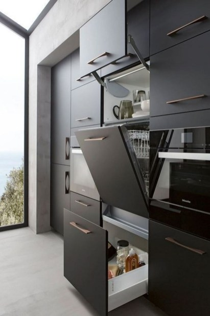 Elegant Black Kitchen Design Ideas You Need To Try38