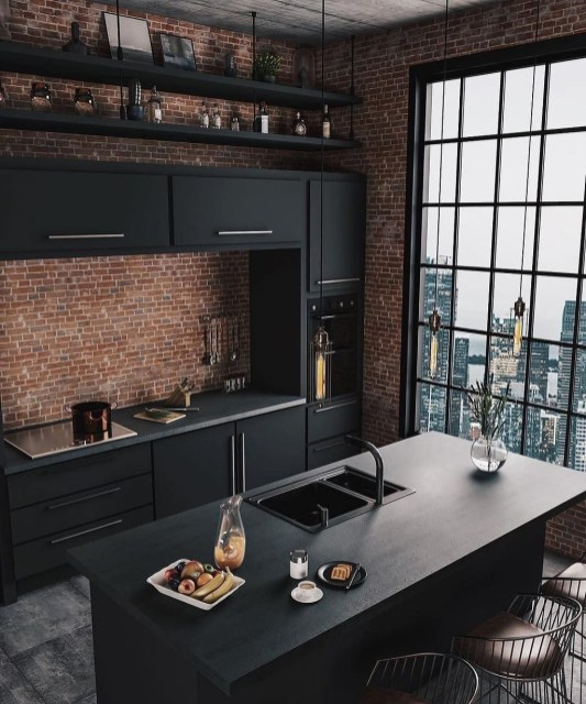 Elegant Black Kitchen Design Ideas You Need To Try40