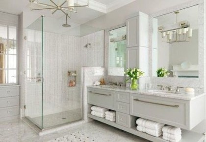 Modern Bathroom Floating Shelves Design Ideas For You12