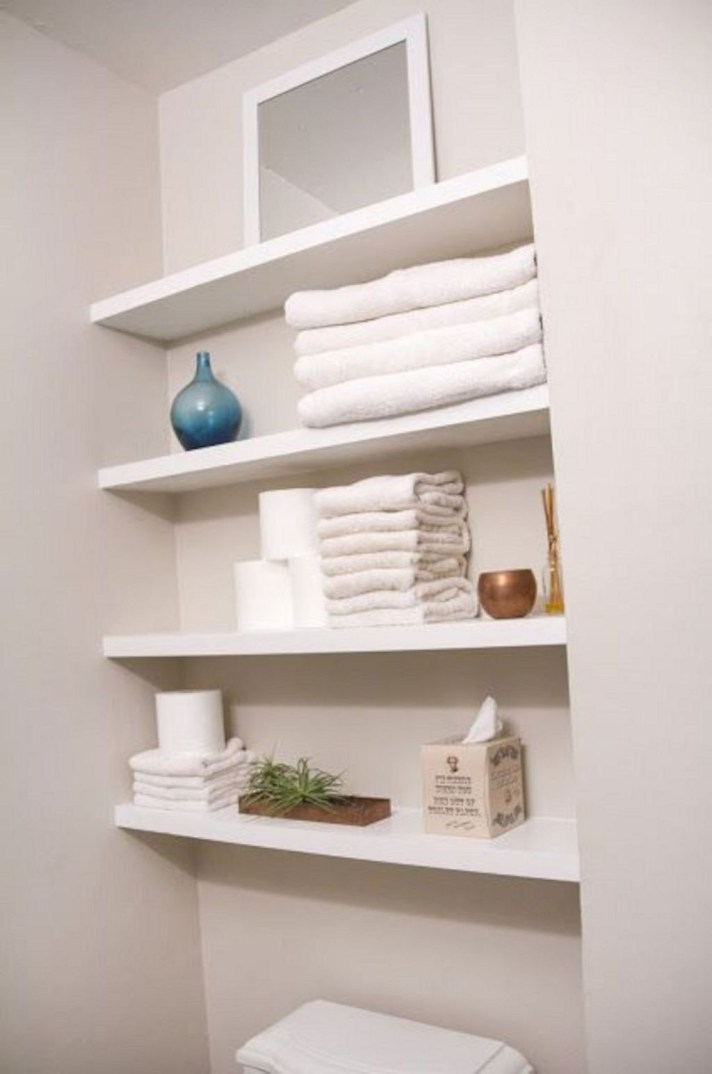 Modern Bathroom Floating Shelves Design Ideas For You13