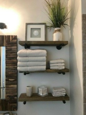 Modern Bathroom Floating Shelves Design Ideas For You20