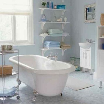 Modern Bathroom Floating Shelves Design Ideas For You28