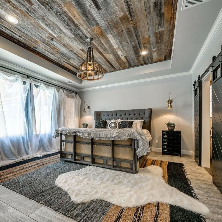 Unordinary Ceiling Design Ideas For Your Bedroom06