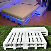 Unordinary Recycled Pallet Bed Frame Ideas To Make It Yourself19