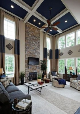 Unusual Ceiling Designs Ideas For Living Rooms34