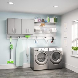 Cute Laundry Room Storage Shelves Ideas To Consider18