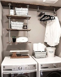 Cute Laundry Room Storage Shelves Ideas To Consider19