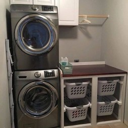 Cute Laundry Room Storage Shelves Ideas To Consider21