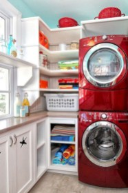 Cute Laundry Room Storage Shelves Ideas To Consider25